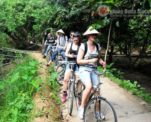 Cycling around Tan Phong Island - Exclusive Mekong one day tour
