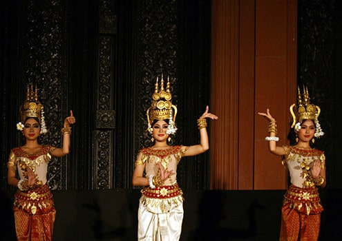 Ro bam Royal dance of Khmer - Mekong delta tour