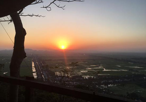 Sunset from Sam Mountain in Chau Doc - Tour in Mekong delta